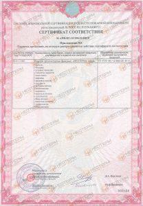 Сертификат пожарного соответствия Неотерм СПб